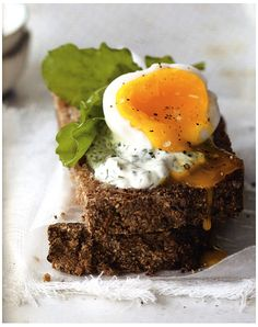 Open-Faced Soft Boiled Egg Sandwiches in @SweetHomeLife