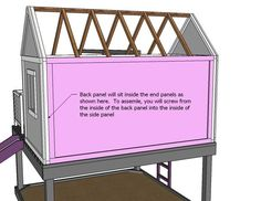 Childrens Playhouse Plans 174233079303935221 - Play house back wall Source by JubileeStudios Simple Playhouse, Outside Playhouse, Backyard Playhouse, Build A Playhouse, Outdoor Playhouses, Childrens Playhouse, Build My Own House, Wendy House, Painting Trim
