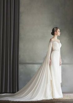 9a9d4b6d4 the cape could be shorter and more sheer.  wedding  weddingtips   weddingideas