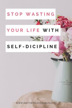 Stop wasting your life and take action. Setting the right goals and having self discipline helps you win in life. | Vision Board | Entrepreneur & Success Coaching | Motivational Quotes | Law of Attraction | The Secret | Positive Mindset & Goal Achievement