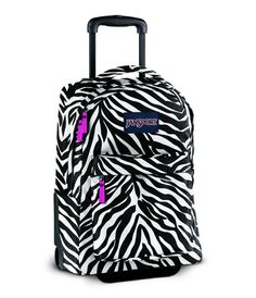 Jansport Zebra Print Rolling Backpack | Kids Rolling Backpack ...
