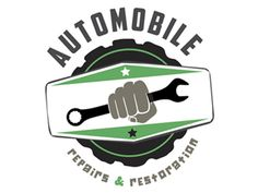 Auto Repair & Restoration Garage Logo by Erin Maioriello