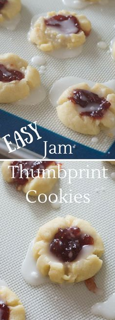The best thumbprint cookie recipe. Delicious and easy! And filled with jam!