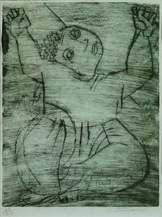 Cândido Portinari  Menina Boba – 25 x 19 cm – Gravura em metal Ass. CID