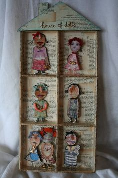 thanks for stopping by! We are LIVE! with our Artists' Spotlight & WEBSHOW and here to celebrate the utterly charming papier mache. Diy And Crafts, Arts And Crafts, Paper Crafts, Paper Dolls, Art Dolls, Paperclay, Assemblage Art, Box Art, Creative Inspiration
