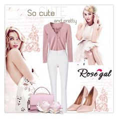 """""""Rosegal Bodysuit"""" by krystalkm-7 ❤ liked on Polyvore featuring Topshop and WithChic"""
