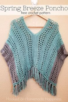 Spring Breeze Poncho-worsted