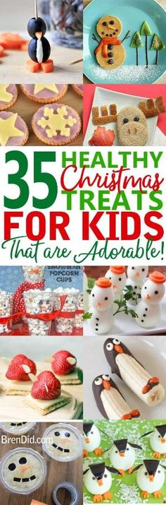 Healthy Christmas treats for kids – Cute & Healthy Christmas snacks for kids holiday parties, winter parties, and lunch box surprises. Get the easy recipes today! by lidia