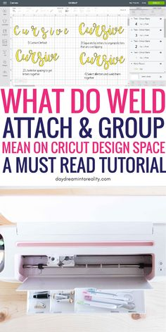 cricut crafts Today we are going to be covering some of the MOST IMPORTANT concepts in Cricut Design Space; Weld, Attach and Group. Learning how to, and when to use any of these tools inside Cricut Design Space will take you from rookie to expert! Cricut Air 2, Cricut Help, Cricut Vinyl, Cricut Craft Room, Cricut Fonts, Cricut Tutorials, Cricut Ideas, Affinity Designer, Cricut Explore Air