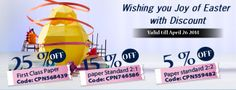 Wishing You guys Joy of Easter...!! Get discounts and complete your assignment Homework..!
