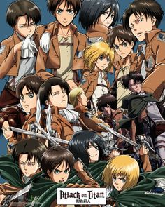 When Levi and Eren are literally beside each-other in every part :')