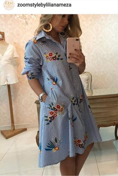 Ángeles Modest Fashion, Fashion Dresses, Casual Wear, Casual Dresses, Stripped Dress, Pregnancy Outfits, Boho Look, Fashion Books, Designer Dresses