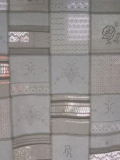Vintage Gardinen - exquisite GARDINE von CREUTZBURG antike Wäsche - ein Designerstück von monika-creutzburg bei DaWanda