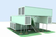 Cool, Serene, perfectly balanced & perfectly colored!  Oslo Norway Shipping Container Gallery