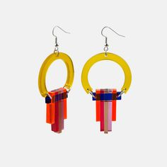 art deco style perspex earrings by toolally jewellery | notonthehighstreet.com