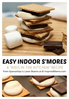 Easy Indoor S'Mores - A Kids in the Kitchen Recipe at B-InspiredMama.com - #kids #recipe #kbn