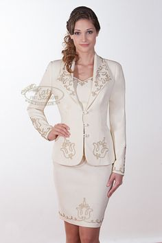 645 - zsinóros kosztüm rövid szoknyával Women Church Suits, Formal Wedding, Festival Outfits, Bridal Dresses, Peplum Dress, Fashion Beauty, Blazer, Female, How To Wear