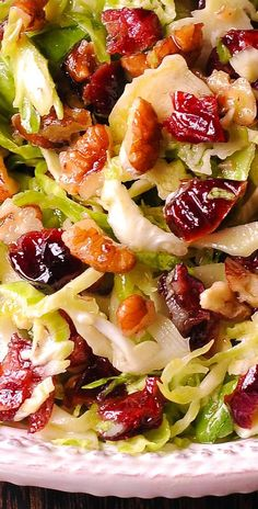 Brussels Sprout Cranberry Salad with Honey Mustard Vinaigrette paleo dinner bowls Thanksgiving Recipes, Holiday Recipes, Roast Beef Sandwich, Sandwich Bar, Sandwiches, Cranberry Salad, Sprouts Salad, Brussel Sprout Salad, Brussels Sprouts