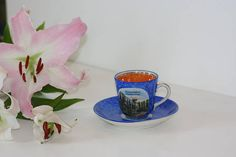 Cup And Saucer, Iridescent, Tea Cups, Etsy, Vintage, Souvenir, Pharmacy, Teacup, Tea Cup