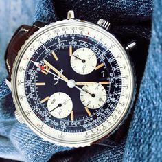 The stunning blue dial Sinn 903 St B E with dark blue dial. Available from us. #Sinn #Watches