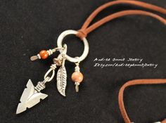BoHo necklace Leather adjustable necklace by AndreaGammieJewelry, $24.00