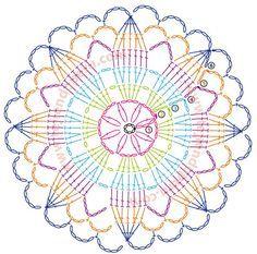 mandalas crochet patrones - Buscar con Google