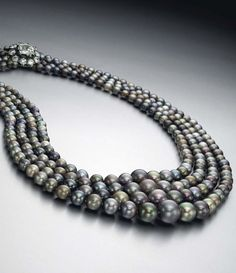 This four-strand natural saltwater pearl necklace set a new world record when it sold for just over $5 million at Christie's New York in 2015. Discover the most expensive pearls in the world: http://www.thejewelleryeditor.com/jewellery/most-expensive-pearls-in-the-world/ #jewelry