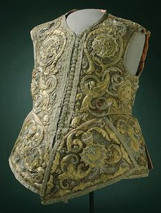 Waistcoat, 1620. Lovely bit of texture - and nice to have more menswear on this board!