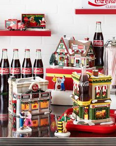 Department Official Site for Christmas Villages, Snowbabies & Coca Cola Santa, Coca Cola Christmas, Lemax Christmas, Christmas Drinks, Vintage Christmas Ornaments, Winter Christmas, Christmas Time, Christmas Mantles, Victorian Christmas