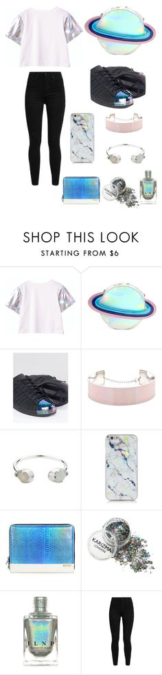 """""""Holographic"""" by jstahl21 ❤ liked on Polyvore featuring Forever 21, adidas, Zimmermann, Mohzy and Levi's"""