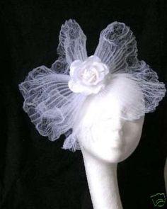 white Fascinator hat for weddings