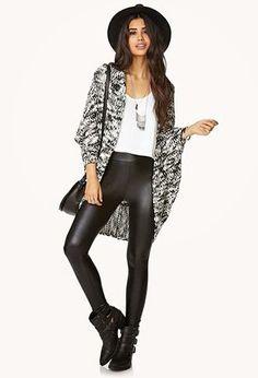 Lady Selva: Moda: pantalones encerados o tipo cuero, como combinarlos