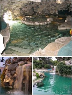 Swimming Pools With Caves | SWIMMING POOL WITH ARTIFICIAL CASCADE AND WATERFALLS