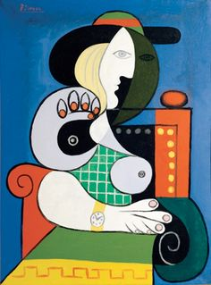 Pablo Picasso Seated Woman with Wrist Watch 1932 oil on canvas 130 x 97cms