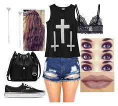 """""""Untitled #249"""" by rhay-q ❤ liked on Polyvore featuring Marli, MICHAEL Michael Kors and Vans"""