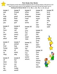 First Grade Journeys High Frequency Word List by Stars First Grade Sight Words, First Grade Writing, High Frequency Words, Good Communication, Word Families, Home Schooling, Literacy Activities, Kid Crafts, Phonics