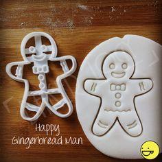 Lebkuchen Mann Cookies Schneidgeräte   Kekse-Fräser   einer der freundlichen Ooak Weihnachten Xmas Partei Märchen Märchen