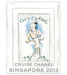 Karl Lagerfeld's illustration for the Chanel Cruise Singapore show 2 | Fashion | Vogue