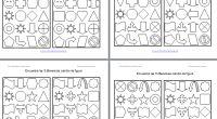 Encuentra las diferencias Y COLOREA en formas geometricas Plantilla editable