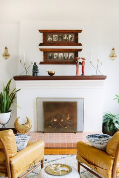 DIY Fireplace Makeover with True Value via A House in the Hills