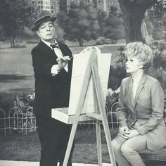 Lucille Ball and Buster Keaton
