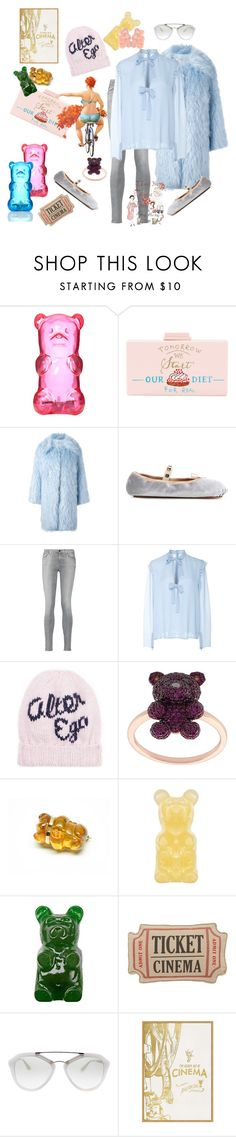 """Cinema is: eating gummy bears till you drop"" by juliabachmann ❤ liked on Polyvore featuring Cecilia Ma, VIVETTA, Valentino, 7 For All Mankind, Giambattista Valli, Eugenia Kim, Khai Khai, Levtex, Prada and Pottery Barn"
