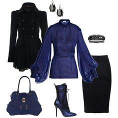 Day to Evening Cobalt Blue, created by sassygirl52 on Polyvore