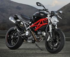 Ducati monster.... my fiance has this bike in silver...and i love riding on this :)