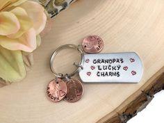 Christmas Gift For Grandpa Grandpa Keychain by Jordanlynnsgems