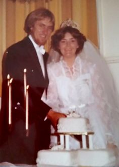 Wedding of Anthony George Pioch and Jennifer Elston, 4 September 1982. Photo taken downstairs Maryborough RSL CLub, Bazaar Street.