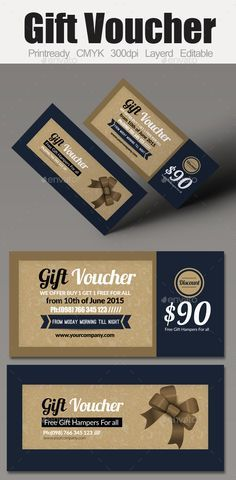 Buy Multi Use Business Gift Voucher by on GraphicRiver. Smart,Clear and Clean Creative business voucher template can used for all purpose Corporate , you can edit the text l. Business Gifts, Creative Business, Student Christmas Gifts, Christmas Ideas, Gift Voucher Design, Welcome Home Gifts, Ticket Design, Promo Gifts, Collateral Design