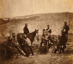 Oldest war photographs, 1855, by Roger Fenton. Britain-France-Turkey vs. Russia (Crimean War).