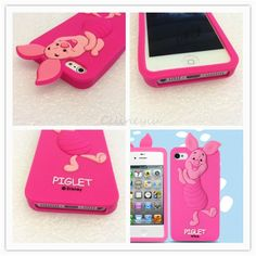 For Apple iPhone 5s 5 5c 3D Piglet Carton Silicone Soft Phone Case #Unbranded