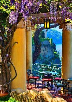 Wisteria Patio, Sorrento, Italy photo via kathryn